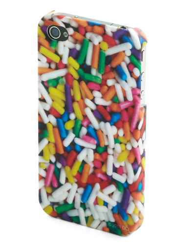 Rating Royalty iPhone 4/4S Case in Sprinkles - Multi, Novelty Print, Quirky, Top Rated, Under $20, Food