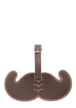 Mustache Your Stuff Luggage Tag