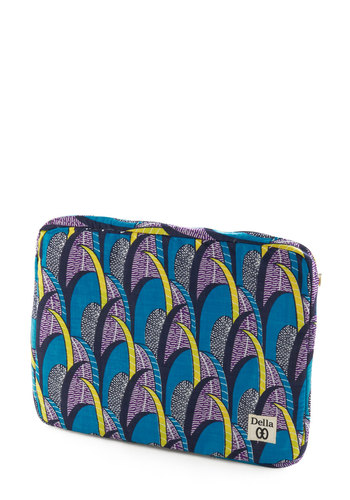 So Frond of You Laptop Sleeve - Blue, Multi, Yellow, Blue, Print, Dorm Decor, Handmade & DIY, Travel, Graduation