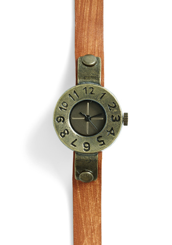Airship Adventure Watch - Brown, Solid, Casual, Steampunk, Leather