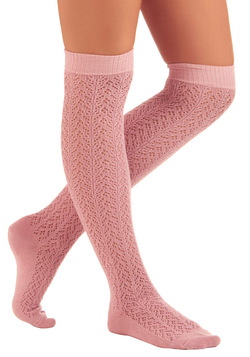 A Leg Up Socks in Rose