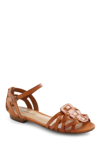 Sandbar None Sandal - Casual, Vintage Inspired, Brown, Solid, Summer