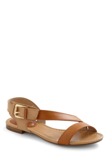 A Dune Deal Sandal - Solid, Summer, Brown, Casual