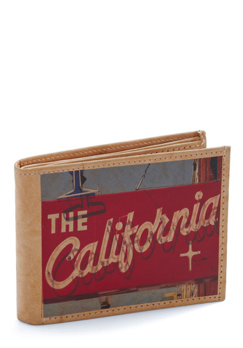 Spend a Weekend Wallet in Hollywood - Multi, Novelty Print, Tan / Cream