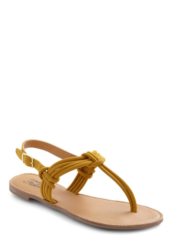 Had It Cumin Sandal - Yellow, Solid, Casual, Summer