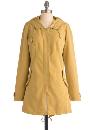 Puget Sound Jacket - Yellow, Solid, Pockets, Casual, Long Sleeve, Long, 2
