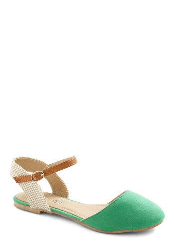 Room and Boardwalk Sandal - Green, Tan / Cream, Casual, Brown, Woven, Spring