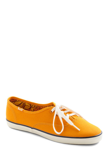 It's Been Too Longboard Sneaker by Keds - Solid, Casual, Orange, Spring