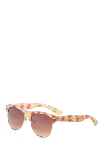 Fresh Outlook Sunglasses - Multi, Floral, Yellow, Green, Pink
