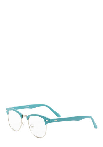 I Sky Glasses - Vintage Inspired, Blue, Solid, Work