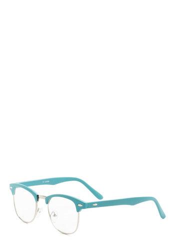 I Sky Glasses - Vintage Inspired, Blue, Solid, Work