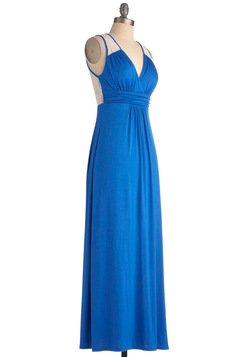 Brunch by the Falls Dress in Royal Blue
