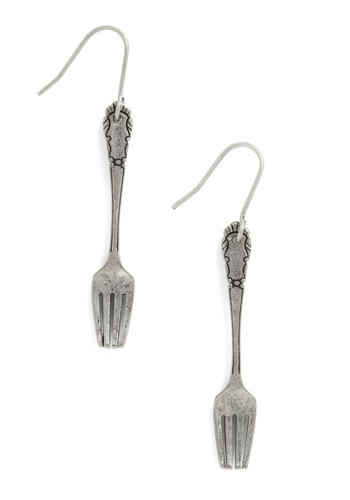 Flattering Wear Earrings - Casual, Silver, Solid, Statement