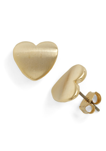 To Have and To Gold Earrings - Gold, Solid