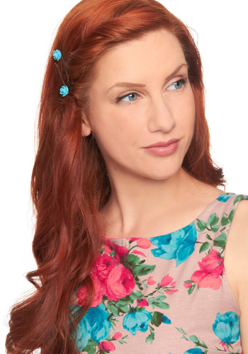 Lush Locks Hair Pins - Yellow, Blue, Solid, Flower, Fairytale, Casual