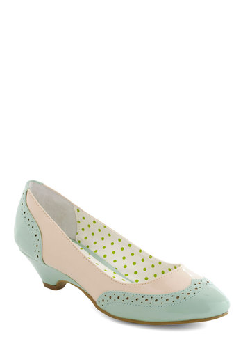 Sweet Spectator Heel by Bait Footwear - Blue, Pink, Fairytale, Cutout, Work