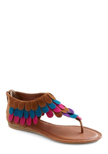 Cute in Cali Sandal - Multi, Blue, Purple, Pink, Brown, Casual, Summer, Boho