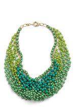 Statement of the Art Necklace in Peacock from ModCloth