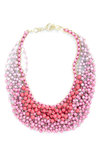 Statement of the Art Necklace in Bouquet - Pink, Solid, Beads, Casual, Daytime Party