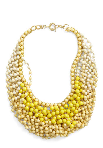 Statement of the Art Necklace in Sun - Yellow, Beads, Daytime Party