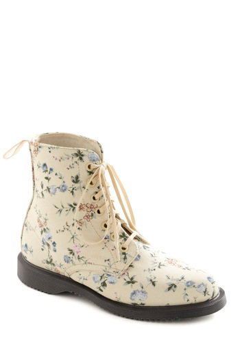 Path to Fame Boot by Dr. Martens - Multi, Floral, Casual, Cream, Multi, Vintage Inspired, Spring