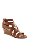Strappy Together Wedge - Spring, Brown, Solid, Casual, Wedge