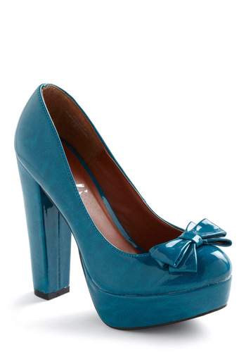 Set in Promotion Heel - Blue, Solid, Bows, Work