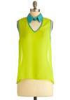 Classy in Cabo Top - Green, Cutout, Sleeveless, Party, Vintage Inspired, 80s, Summer, Mid-length