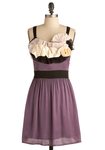 I Adorn You Dress - Purple, Multi, Tan / Cream, Black, Cutout, Flower, Casual, A-line, Tank top (2 thick straps), Short, Cocktail, Daytime Party, Fit & Flare