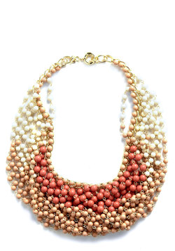 Statement of the Art Necklace in Blush