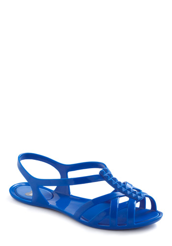 So Jel Sandals in Blue by Mel Shoes - Casual, Vintage Inspired, 80s, 90s, Blue, Solid, Summer