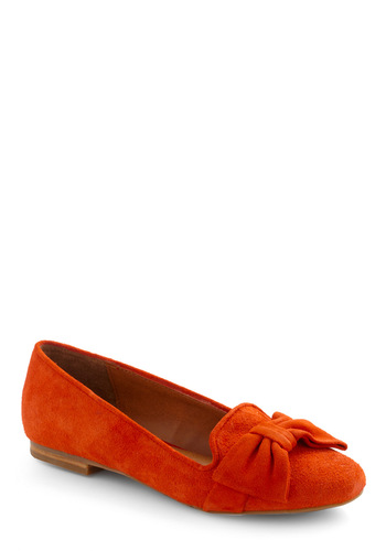 It Takes Two to Tangelo Flat by Dolce Vita - Orange, Solid, Bows