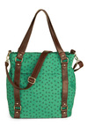 Land or Sea Bag - Green, Brown, Nautical, Novelty Print