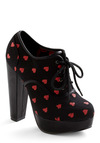 Be Boldhearted Heel - Black, Red, Print, Party, Platform, High, Chunky heel
