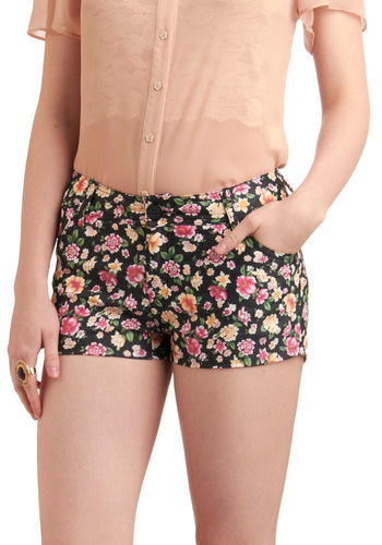 Floral to Ceiling Fabulous Shorts - Black, Multi, Floral, Pockets, Casual, Spring, Summer, Orange, Green, Pink, Short, Tis the Season Sale