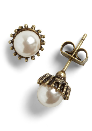 Welcome Bach Earrings - Gold, Solid, Pearls, Top Rated