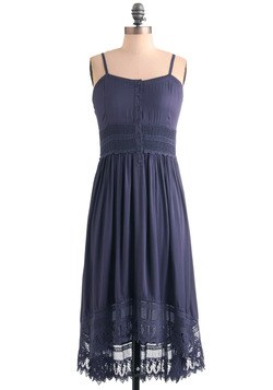 Ease of Elegance Dress in Blue