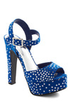 My Lucky Stars Heel - Blue, Silver, Summer, Party, Statement, Girls Night Out, Holiday Party, Platform, Peep Toe, High