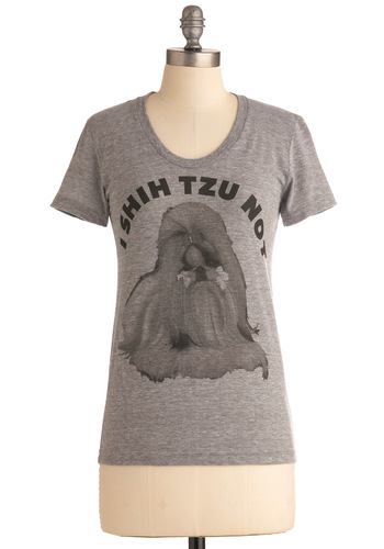 I Swear to Dog T-Shirt by Nooworks - Mid-length, Grey, Black, Casual, Short Sleeves, Statement, Jersey, Crew, Grey, Short Sleeve, Top Rated