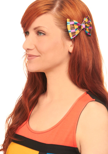 You'll Pattern Heads Hair Clip - Casual, Multi, 80s