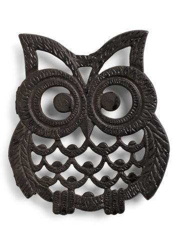 Vintage Hoots Hungry Trivet