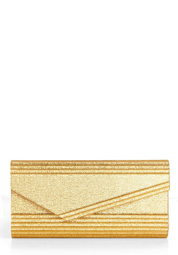 Gold Habits Clutch - Gold, Solid, Chain, Prom, Party, Luxe, Press Placement, Girls Night Out, Glitter, Cocktail, Holiday Party, 20s