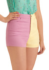 Do They Half It? Shorts by Motel - Casual, Yellow, Pink, Statement, Summer