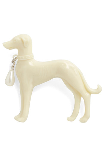 Lost and Hound Pin - Cream, Solid, Pearls