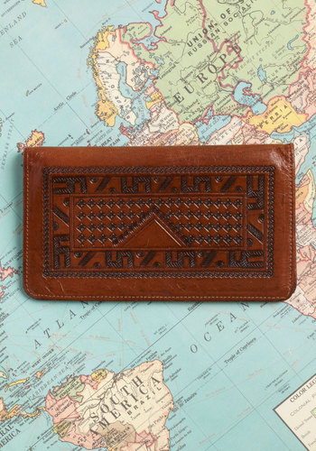 Vintage Cheque the Map Wallet
