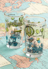 Vintage Cheers to Your Trip Glass Set