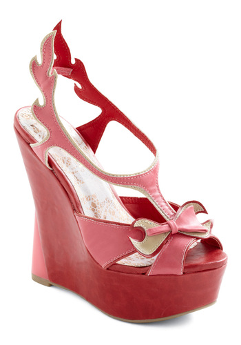 All Fired Up Wedge - Party, Statement, Red, Pink, Gold, Wedge