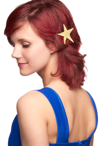 Deserve a Gold Star Hair Pin - Gold, Solid, Party, 20s