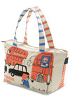 Cheer-io Up Lunch Bag by Shinzi Katoh - Blue, Black, Multi, Orange, Tan / Cream, Travel