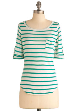 Stripe Zone Top in Green